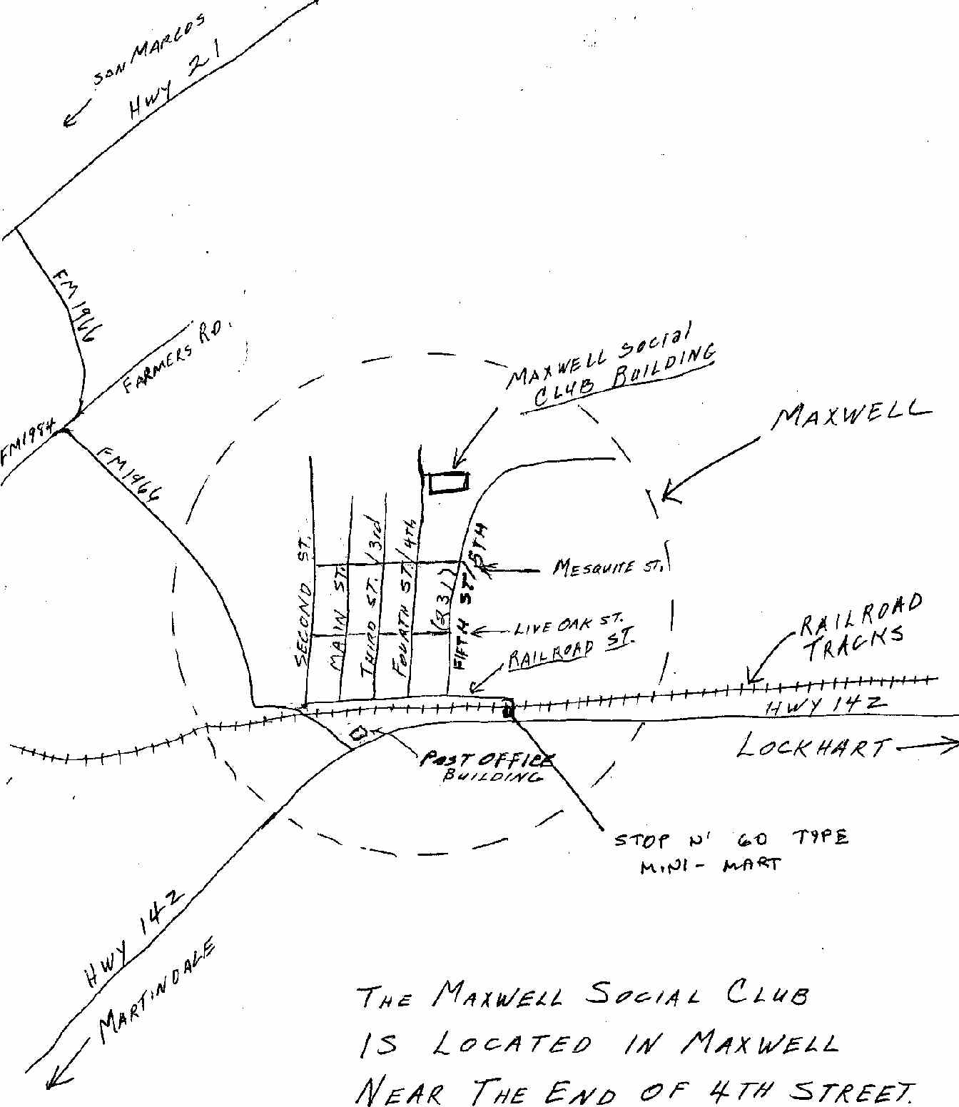 Map to Maxwell Social Club
